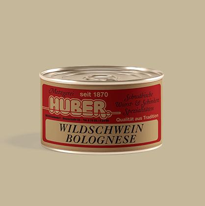 Wildschwein Bolognese Fertiggericht
